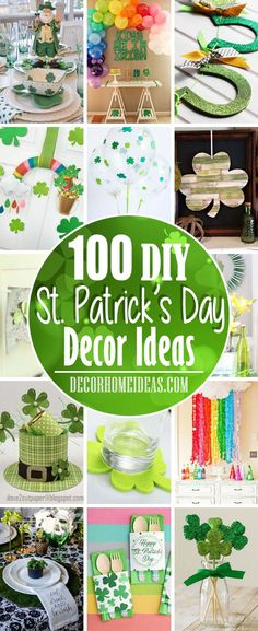 DIY projects and tutorials on St. Patrick's Day decorations and crafts. St Patrick's Day Crafts, Crafts To Make, Crafts For Kids, Diy St Patricks Day Decor, Green Craft, Ball Jars, Do It Yourself Projects, Affordable Home Decor, The Balloon