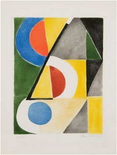 Abstract Composition with triangles and Semicircles - Sonia Delaunay