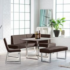Corner-Dining-Set-Breakfast-Nook-Leather-Bench-Chairs-Table-Kitchen-Furniture