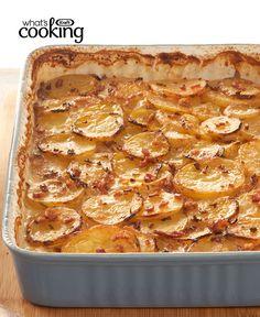 Bacon & Maple Scalloped Potatoes #recipe