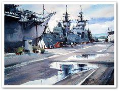 Direk Kingnok - acuarelista Thai -watercolors