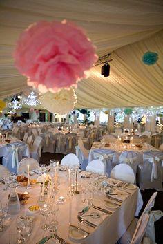 Real Irish Wedding Tissue Pom Poms Decoration