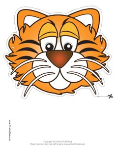 Animal Masks Printable Masks in PDF format Printable Animal Masks, Tiger Mask, Rainforest Animals, Felt Mask, Fairy Crafts, Graphics Fairy, Sunday School Crafts, Hobbies And Crafts, Kids Crafts