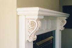 Fireplace mantels in Maple Oak Cherry & Pine