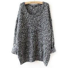 To find out about the Grey Long Sleeve Loose Sweater at SHEIN, part of our latest Sweaters ready to shop online today! Moda Fashion, Womens Fashion, Winter Mode, Look Vintage, Loose Sweater, Grey Sweater, Comfy Sweater, Mode Inspiration, Looks Style