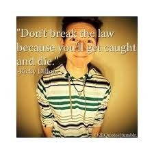 Don't break the law because you'll get caught and die. - wise words of Ricky Dillon O2l Quotes, Youtube Quotes, Youtube Vines, Trevor Moran, Ricky Dillon, Kian Lawley, Joey Graceffa, Jc Caylen, Connor Franta