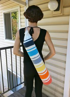 Happy 2014! I have been meaning to share this knitting pattern for a Yoga Mat Bag, and I figure the start of a new year is probably a great time to put it out there. (I've actually got a series of ...