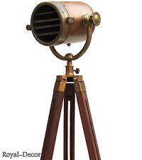 Antique Nautical Searchlight Marine Floor Lamp Studio Spotlight Tripod Decor