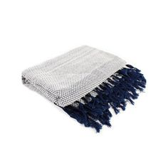 Thai Blanket - White/Navy - $219 entry bench or sectional - LA local