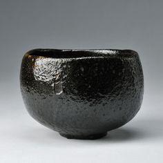 池田巖 樂 黒茶碗  Ikeda Iwao