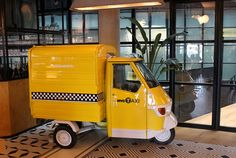 NYC Taxi in the lobby of Only YOU Hotel Atocha Madrid
