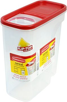 Rubbermaid Flip Top Cereal Keeper, Modular Food Storage Container,  BPA Free, 18