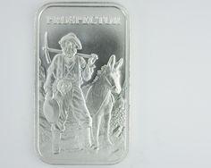 Provident Metals Prospector rectangular .999 silver silver bullion , 99.9% pure silver, silver bars, silver rounds