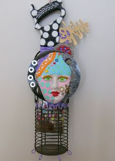 I Saw It Clearly  recycled found object mixed media sculpture For those who like whimsical. $150.00, via Etsy.