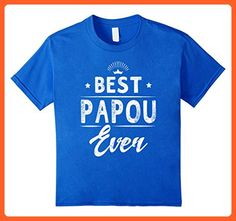 Kids Best Papou Ever Grandpa Father's Day Gifts Men's T-shirt 6 Royal Blue - Relatives and family shirts (*Partner-Link)