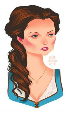 Fan Art of Belle/OUAT for fans of Once Upon A Time. Belle from Once Upon a Time