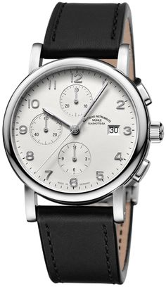 Muhle Glashutte Watch Antaria Chronograph #bezel-fixed #bracelet-strap-leather…