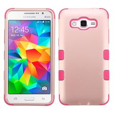 MYBAT TUFF Hybrid Samsung Galaxy Grand Prime Case - Rose Gold/Pink