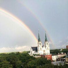 Double rainbow over Savannah