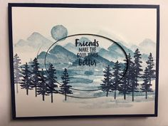 My Creative Corner!: Waterfront, Friendship Card, Raised Frame Technique, Stampin' Up! 2018 Occasions Catalog