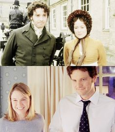 Pride and Prejudice & Bridget Jones Diary... A great Mr, Darcy no matter what the century.