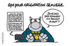 """Un dessin extrait de """"Le Chat passe à table"""", de Philippe Geluck, à paraître le 8 octobre prochain (éditions Casterman)."""