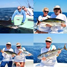 4 Tuna & 1 Sailfish for Bert & Anna today who were joining us aboard GOOD DAY from Corpus Christi Texas, for their 1st experience of offshore fishing in Costa Rica.   Stunning weather this week, with flat calm seas and blue skies!    Day two for Jeff & Luke tomorrow! Corpus Christi Texas, Quepos, Offshore Fishing, Sport Fishing, Blue Skies, Seas, Good Day, Tuna, Costa Rica