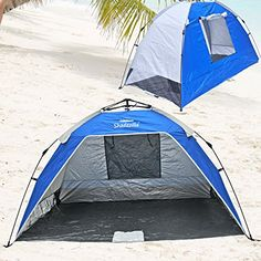 Instant PopUp Beach Tent / Shelter / Cabana UPF 100  ** READ REVIEW @: http://www.best-outdoorgear.com/instant-popup-beach-tent-shelter-cabana-upf-100-2/