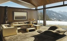 What a view! Now I guess I have to put modern ski chalet on my wish list as well.