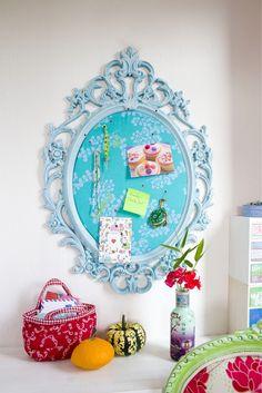 Περιοδικό Έτσι Απλά   Πρωτότυπες ανακοινώσεις - noteboard Memo Boards, Remodeling Ideas, Clever, Decorative Plates, Projects To Try, Craft Ideas, Dreams, Decoration, Colors