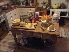 Making Pineapple Upside-Down Cake in Kathleen Holmes' Dollhouse Kitchen