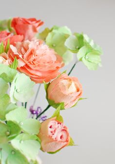 handmade paper flowers by Christine paper design, paper peony.