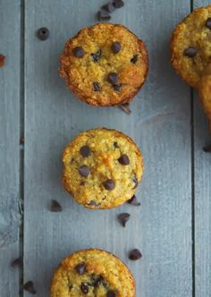 (Paleo) Choc Chip Mini Muffins   #TheIronYou