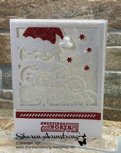 TxStampinSharon: Greetings from Santa & Detailed Santa Thinlits Dies by Stampin' Up!