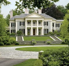 Grand Greek Revival by Dell Mitchell Architects, MA. Keith LeBlanc Landscape Architecture and R.P. Marzilli & Co.