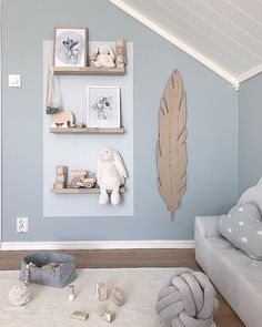 Feather Feather Feather The post Feather appeared first on Babyzimmer ideen. Feather Feather Feather The post Feather appeared first on Babyzimmer ideen. Baby Room Wall Decor, Kids Wall Decor, Baby Decor, Nursery Room, Bedroom Decor, Nursery Ideas, Blue Bedroom, Bedroom Colors, Girls Bedroom
