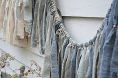 Tempest Torn Fabric Garland / shades of cream & by untoldimprint