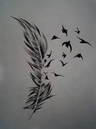 draw bird tattoo