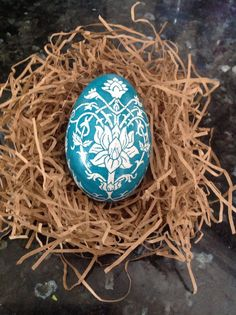 Painted goose egg by arteggsbyveronica on Etsy