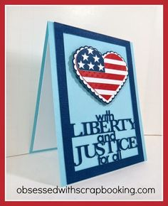 #papercraft - #patriotic #card from Obsessed with Scrapbooking: Happy 4th of July Hero Cricut Stand and Salute Card