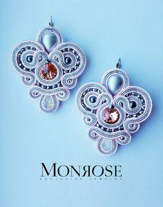 Pink soutache earrings !