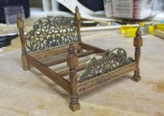 Scratch built Victorian bed - Half scale furniture - Gallery - The Greenleaf Miniature Community