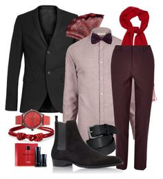 valentines dinner plans by jeffrie-st-james on Polyvore featuring polyvore River Island Topman Yves Saint Laurent Simplify Gucci Barneys New York Giorgio Armani Express mens men men's wear mens wear male mens clothing mens fashion