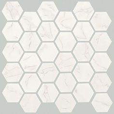 For The Shop- Porcelain tiles that look like marble! Crossville Porcelain Tile - Virtue 2 x 2 Hexagon Mosaics