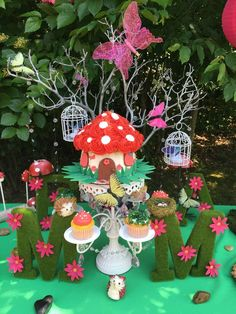 Amazing garden fairy birthday party! See more party ideas at CatchMyParty.com!