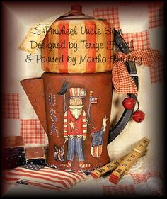 """JTerrye French Designs """"Painting with Friends"""".: Martha Smalley, """"Pinwheel Uncle Sam"""", http://paintingwithfriends.blogspot.com"""