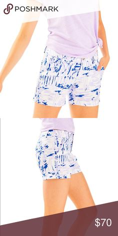 NWT Lilly Pulitzer Rock the Dock Callahan shorts NWT Callahans in lilac verbena Rock the Dock. Pics of actual item to come Lilly Pulitzer Shorts