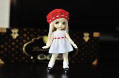 Set for Lati White SP: Dress and beret by InnaBerezina on Etsy