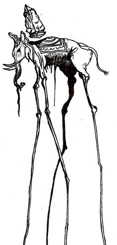 Dali Elephant Sketch by acdcdrummer.deviantart.com