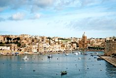 View of #Valletta Old Town and harbour in #Malta.